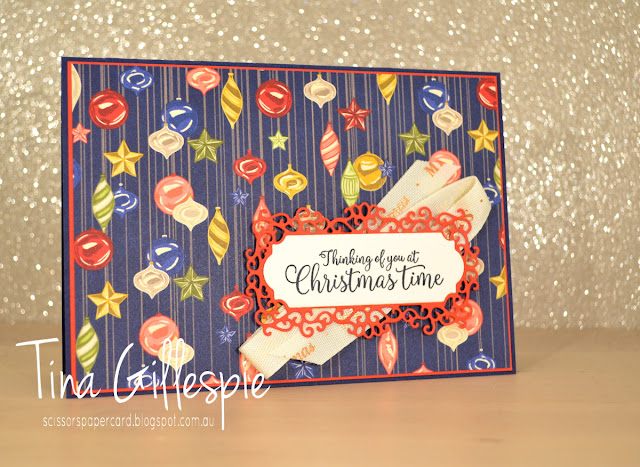 scissorspapercard, Stampin' Up!, Art With Heart, Heart Of Christmas, Greatest Part Of Christmas, Night Before Christmas DSP, Ornate Frames Dies