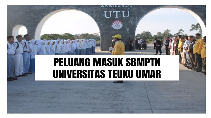 Peluang Masuk SBMPTN UTU 2021/2022 (Universitas Teuku Umar)