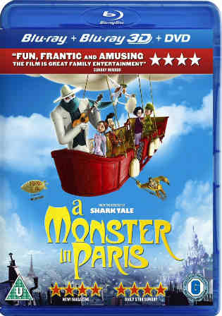 A Monster in Paris 2011 BRRip 300Mb Hindi Dual Audio 480p Watch Online Full Movie Download bolly4u