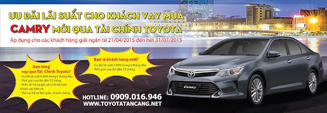 Khách hàng mua xe Toyota Camry 2015 sẽ hưởng được rất nhiều ưu đãi về tài chính