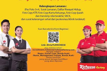Lowongan Kerja di Richeese Factory Banda Aceh