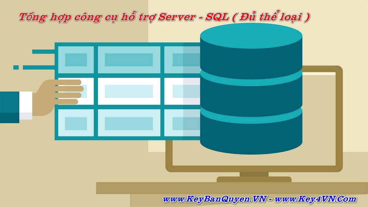 Tổng hợp phần mềm bản quyền hỗ trợ các vấn đề cho Database Server và Client.