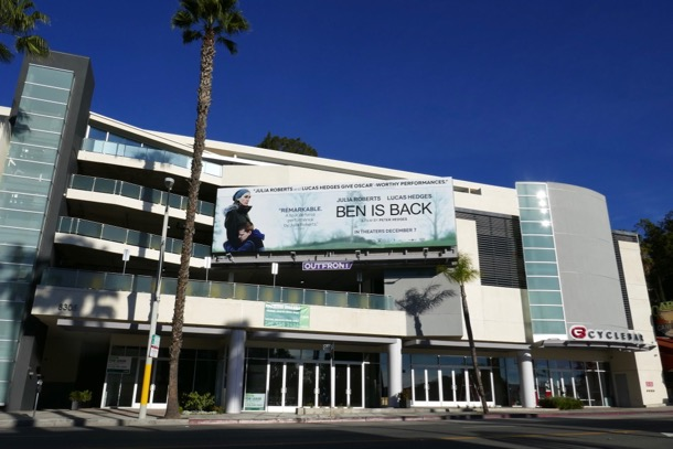 Ben is Back movie billboard