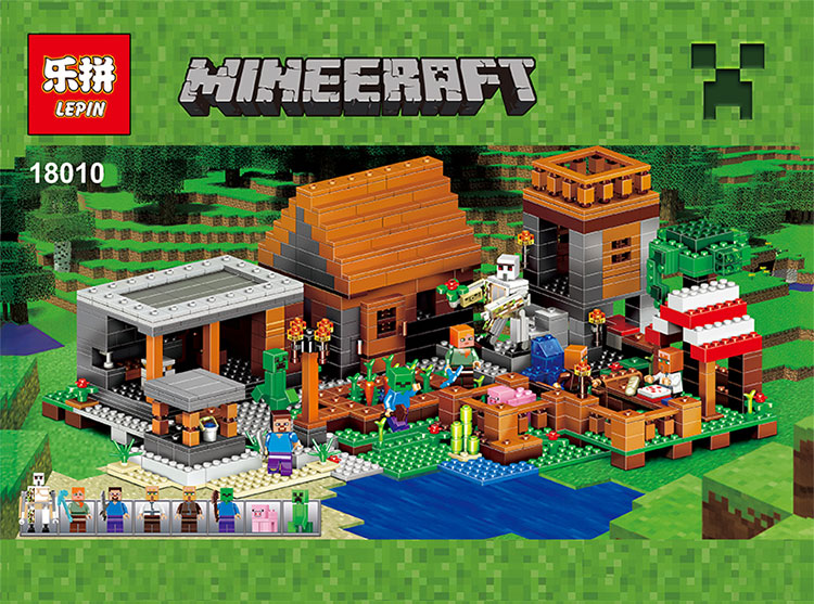 downtheblocks: Lepin 18010: Modified Minecraft The Village Preview