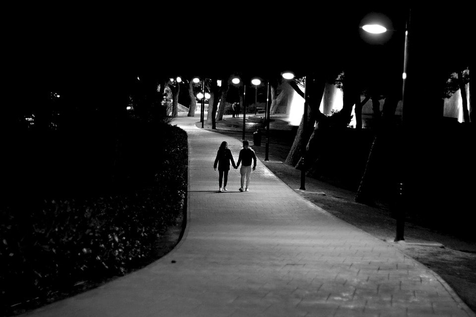 Teen Couple Walking