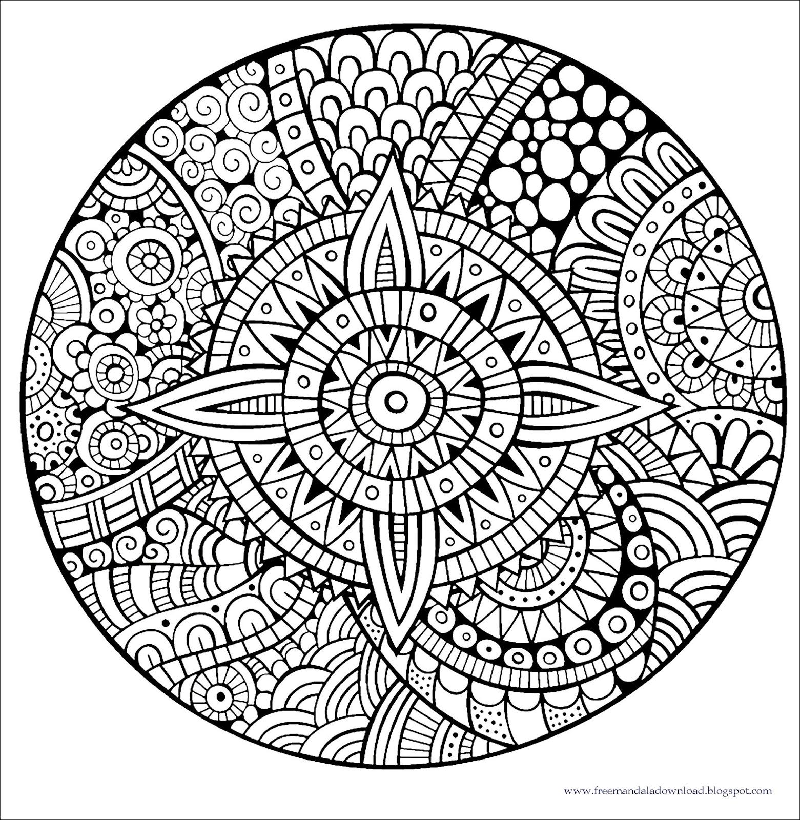 zen & anti-stress mandalas: malvorlagen: dicke linien