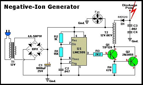Negative Ion Generator Schematic on negative ion generator evaporator cooler, jacob's ladder schematic, negative to positive voltage converter circuit, time delay schematic, negative ion generators diy,