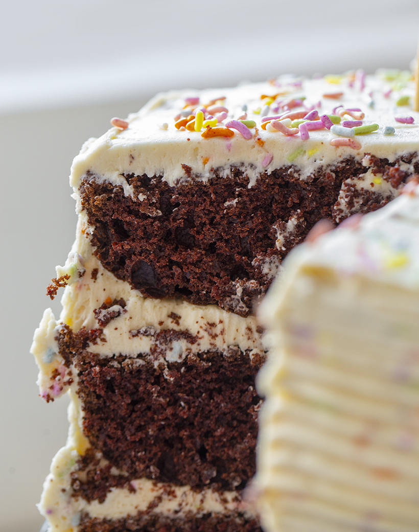 chocolate funfetti cake