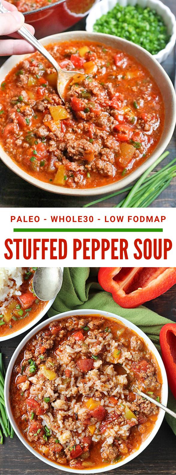 PALEO WHOLE30 STUFFED PEPPER SOUP #healthy #instantpot