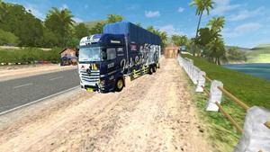 mod truk mercedes actros terpal tinggi