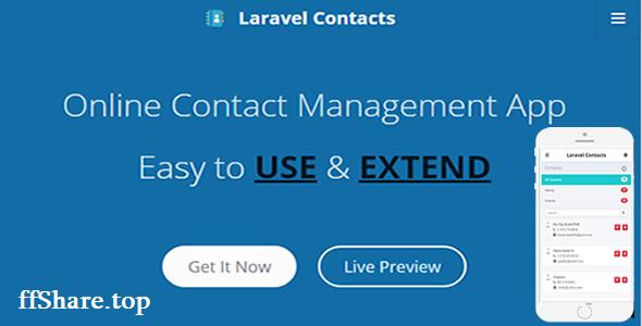 Laravel Contact - Online Contact Management App