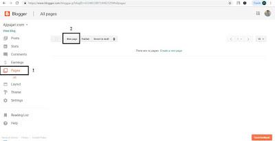 Cara membuat privacy policy di blogspot