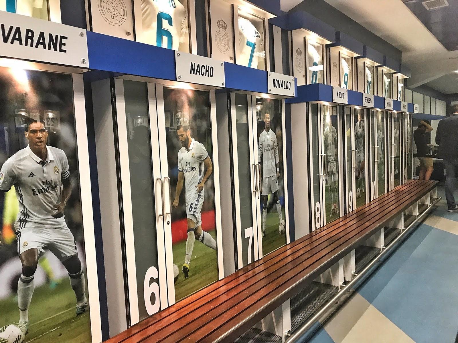 Santiago Bernabéu Locker Room
