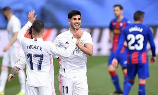 ملخص واهداف مباراة ريال مدريد وايبار (2-0) الدوري الاسباني