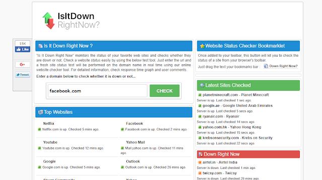 isitdownrightnow.com Aashcharyajanak Upayogee Website