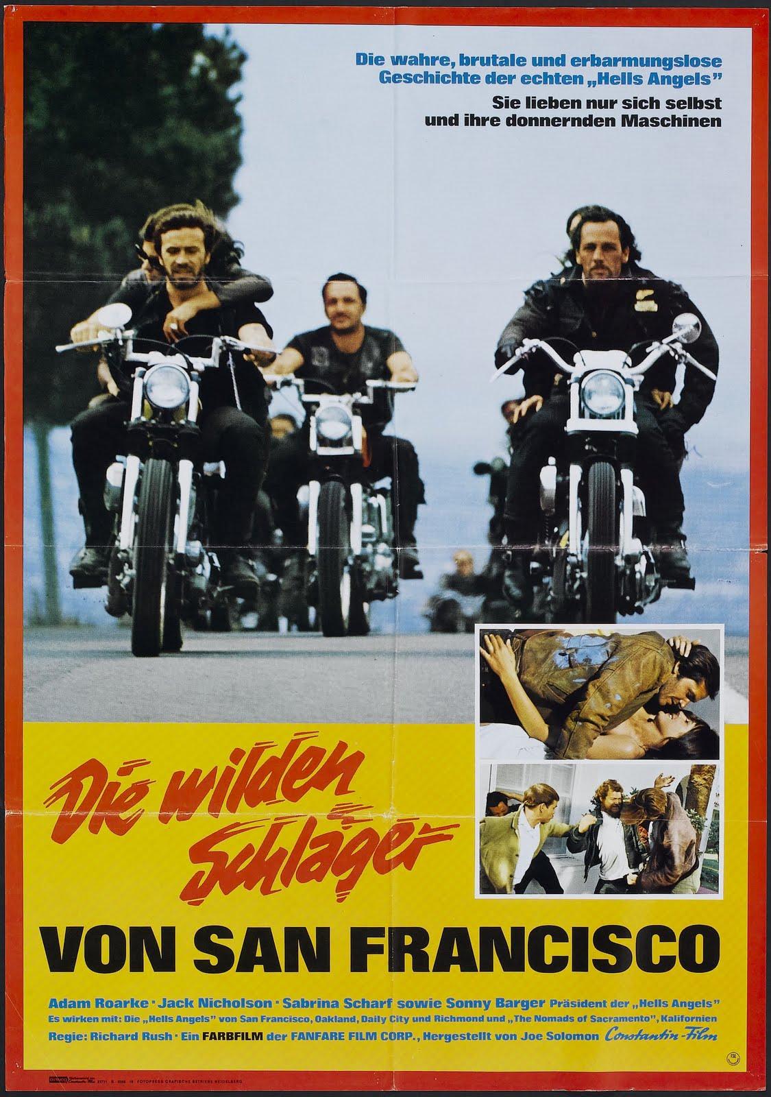 Nostalgia on Wheels: 1967 German Hells Angels on Wheels Movie Poster