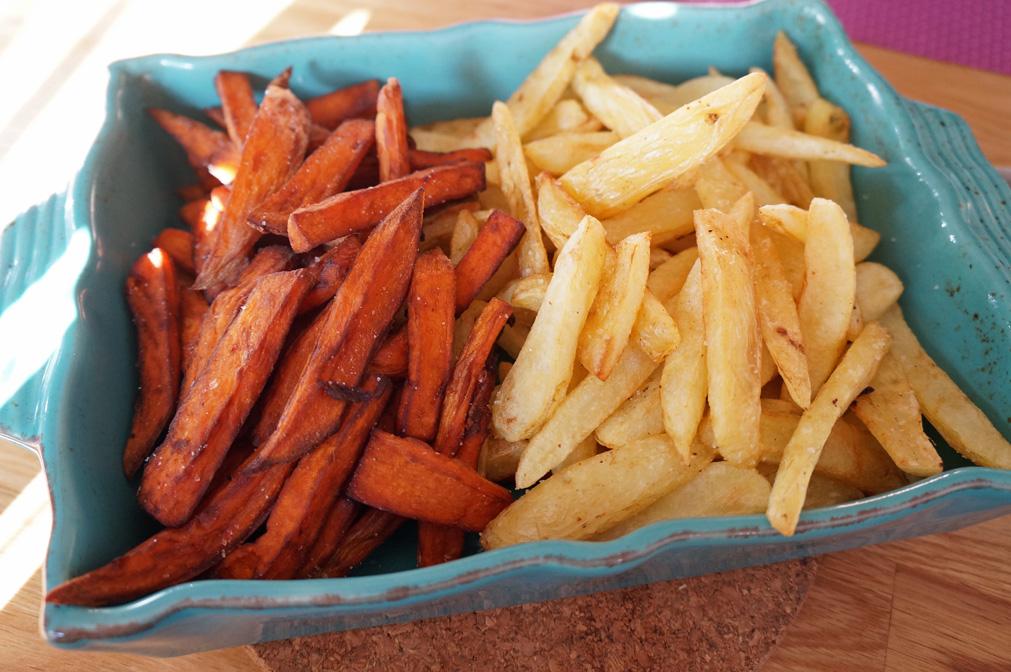 sötpotatis pommes frites i ugn