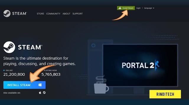 Cara Membuat Akun Steam Online Untuk Bermain Game