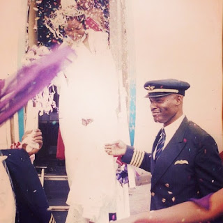 Omotola on her wedding day