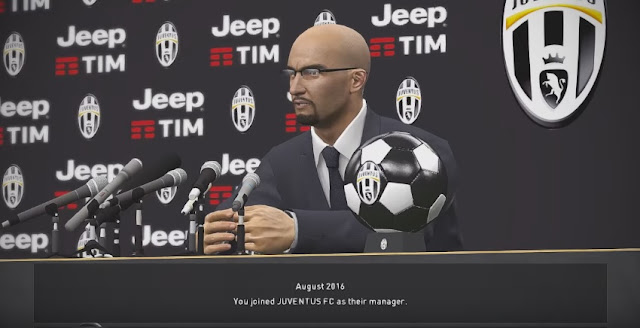 PES 2017 Juventus F.C. Transfer Room Sponsor Jeep Tim Black White Edition by fifacana