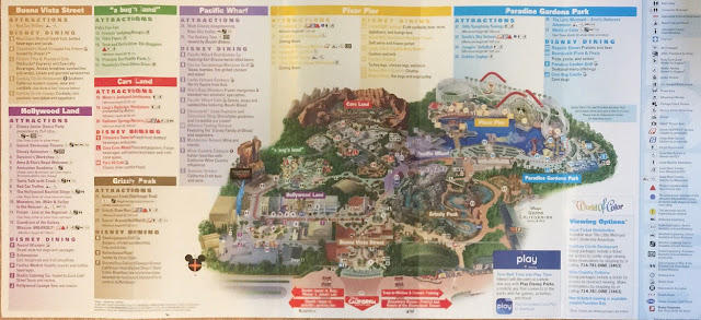 Disney California Adventure Map Pixar Pier Summer 2018 Scanned