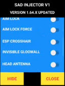 Cheat FF Menu SAD Injector V1 Headshot Antena Head Aimkill Anti Blacklist