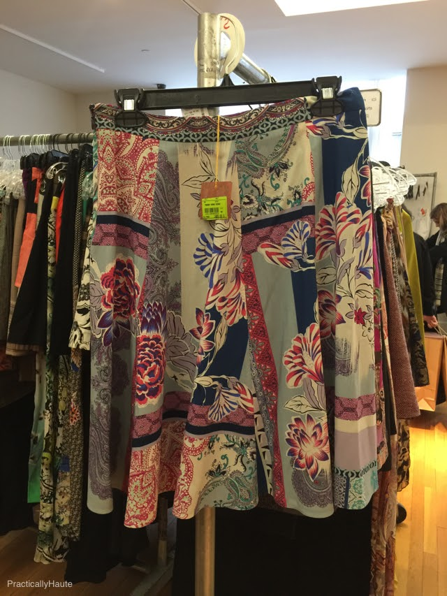 Etro sample sale short silk skirt