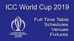 ICC World Cup 2019 Game Timings