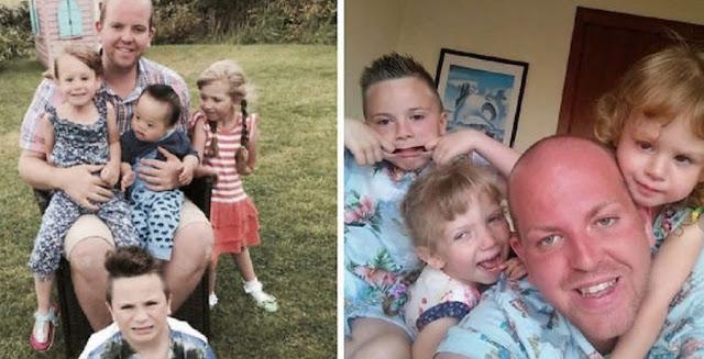 Настоящий герой! Отец-одиночка растит четырех детей с ограниченными возможностями