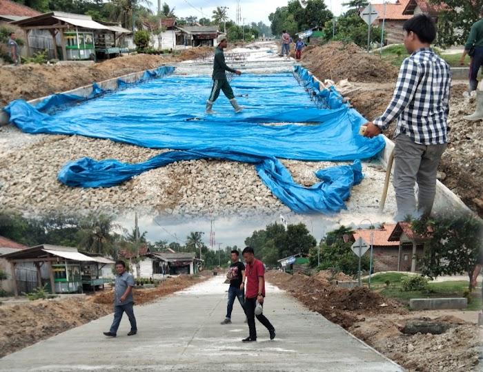 Pembangunan Ruas Jalan Daya Murni - Margodadi Tubaba Diduga Asal jadi Dengan Nilai 1,7 Miliar.