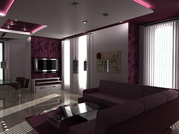 purple interior designs living room interior home. Black Bedroom Furniture Sets. Home Design Ideas