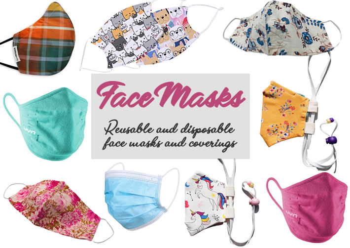 Face Masks - Reusable and disposable masks
