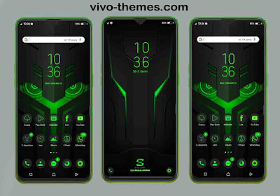 Black Shark Theme For Vivo Android Smartphone