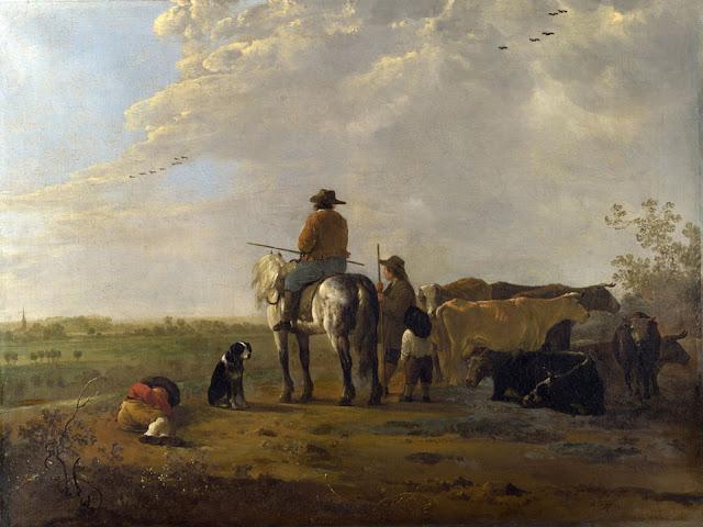Альберт Кёйп - Пастухи с коровами на лугу. 1655-60