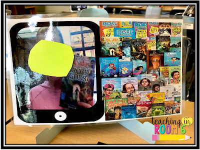 Using screenshots, the students keep track of all the books that they read for that year