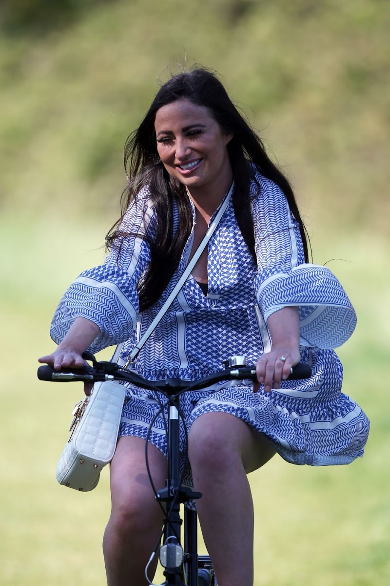 Chantelle Houghton Outside Riding a Bike in Essex 22 Apr-2020