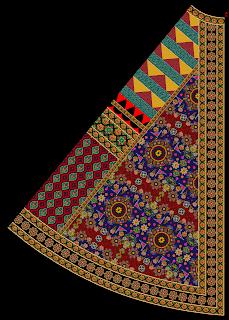 Ghaghra Design Front 2488