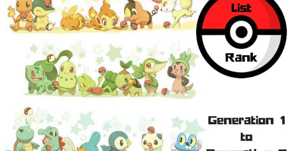The Bookish Gamer: Pokemon Starters Ranked