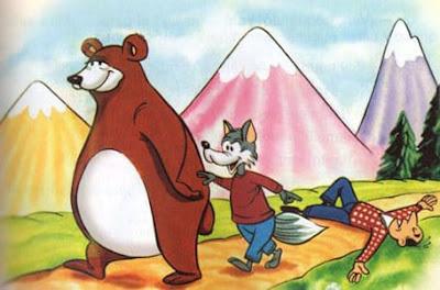 fabula corta el oso y la zorra