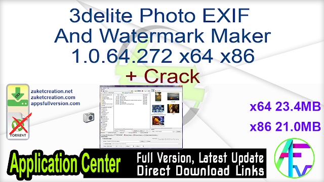 3delite Photo EXIF And Watermark Maker 1.0.64.272 x64 x86 + Crack