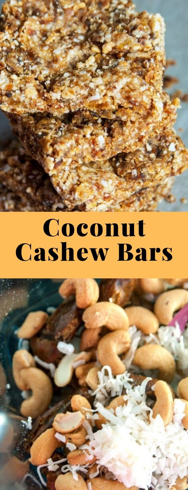 Coconut Cashew Bars #snack #whole30 #healthy
