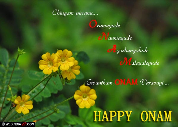 Happy onam to your family