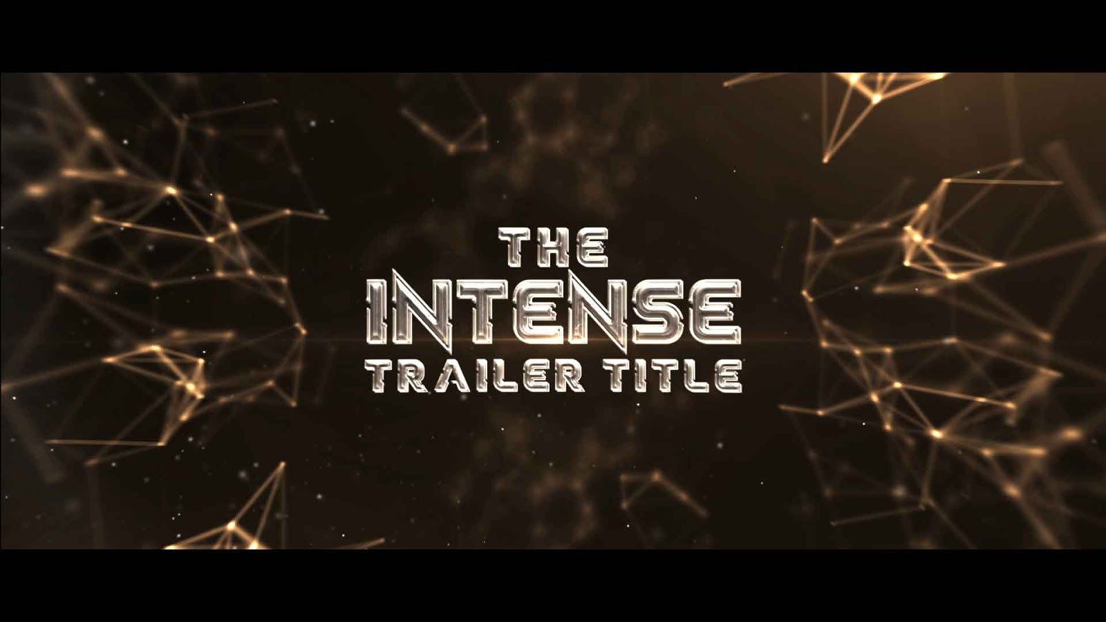 after effects template the intense trailer titles