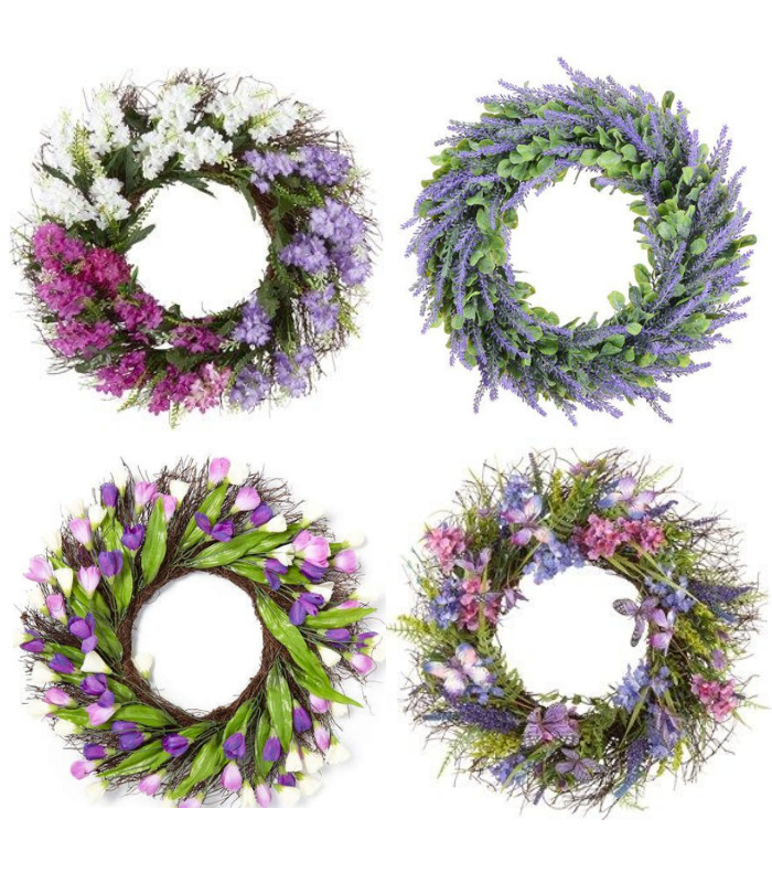 Purple and Lavender Spring Wreaths