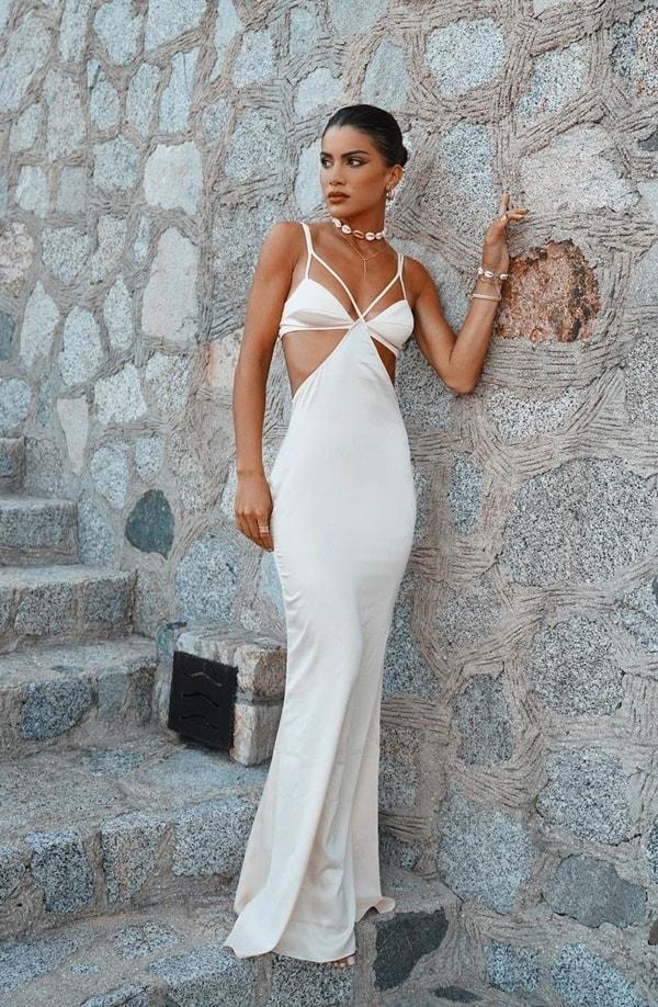 Camila Coelho vestido longo branco