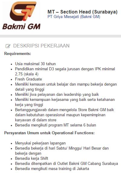 Lowongan Kerja Kota Bandung Terbaru 2020