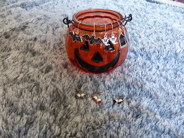 boucle d'oreille crane halloween claire's gothique
