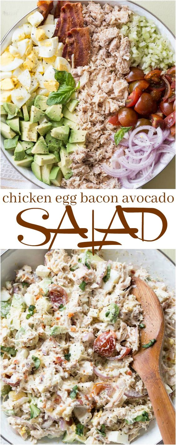 Avocado Egg Chicken Salad Recipe