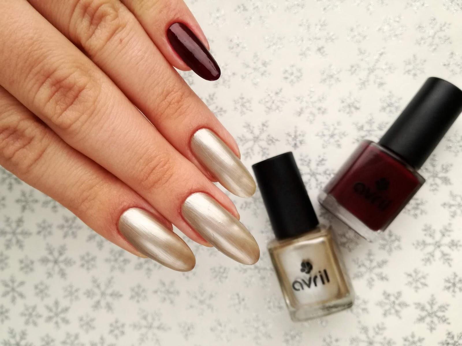 paznokcie pomalowane lakierami Avril