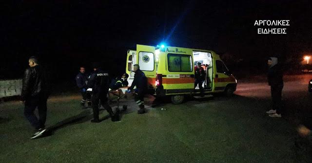 Τροχαίο με πολύ σοβαρά τραυματία στο Κρανίδι Αργολίδας